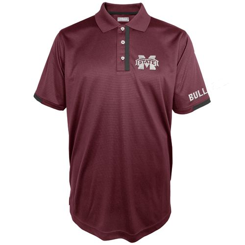 Majestic Men's Mississippi State University Section 101 First Down Polo Shirt