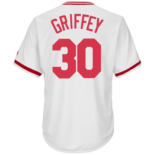 Majestic Men's Cincinnati Reds Ken Griffey Sr. #30 Cooperstown Cool Base 1978 Replica Jersey