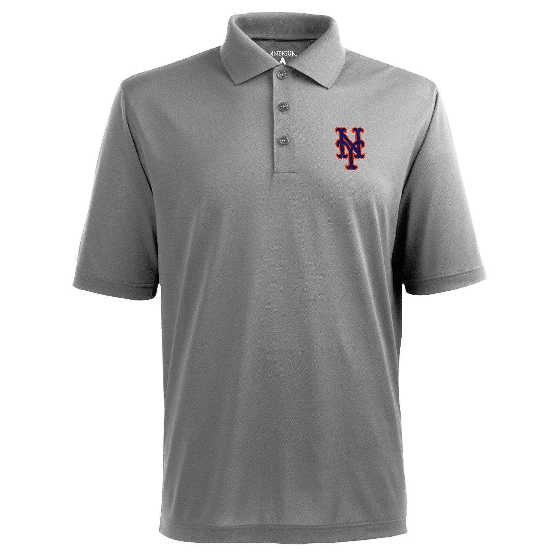 Antigua Men's New York Mets Piqué Xtra-Lite Polo Shirt