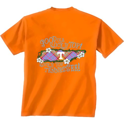 New World Graphics Women's University of Tennessee State Bright Plaid T-shirt