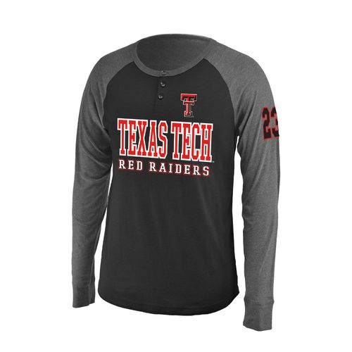 Colosseum Athletics Men's Texas Tech University Spotter Long Sleeve Henley Shirt