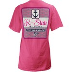 Three Squared Juniors' Kansas State University Knotty Tide T-shirt