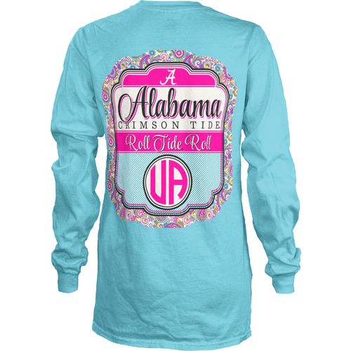Three Squared Juniors' University of Alabama Paisley Frame T-shirt