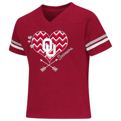 Colosseum Athletics Girls' University of Oklahoma Football Fan T-shirt