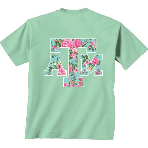 New World Graphics Women's Texas A&M University Floral T-shirt