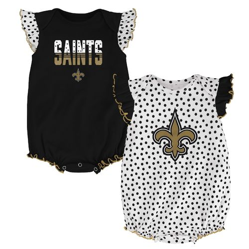 NFL Infants' New Orleans Saints Polka Fan 2-Piece Creeper Set