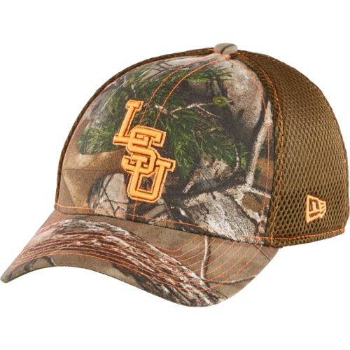New Era Men's Louisiana State University Realtree 39THIRTY Cap