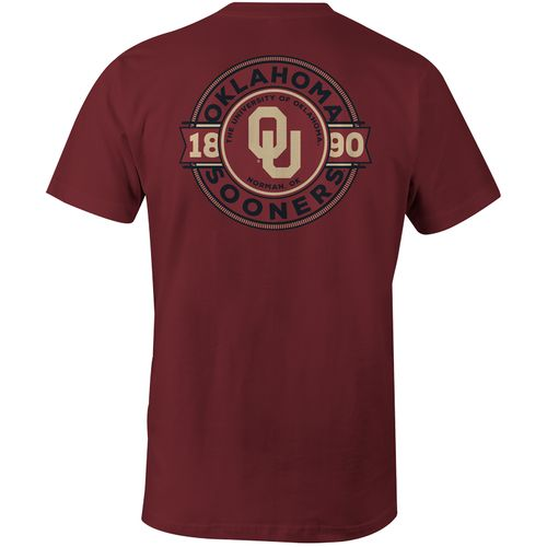 Image One Men's University of Oklahoma Rounds Comfort Color Short Sleeve T-shirt