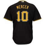 Majestic Men's Pittsburgh Pirates Jordy Mercer #10 Cool Base Replica Jersey