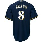Majestic Men's Milwaukee Brewers Ryan Braun #8 Cool Base Replica Jersey - view number 1