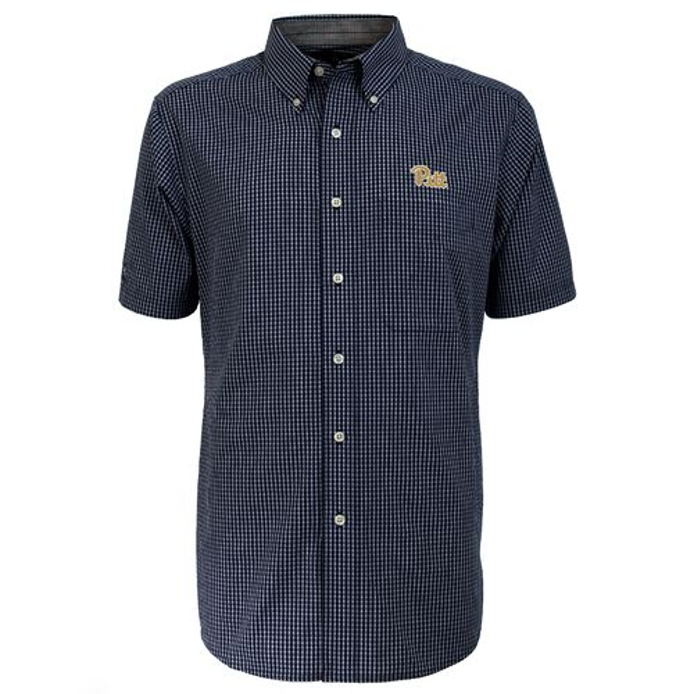 Antigua Men's University of Pittsburgh League Short Sleeve Shirt