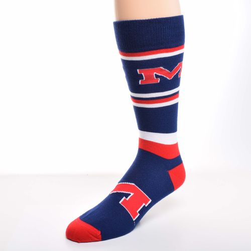 For Bare Feet Men's University of Mississippi Dress Socks