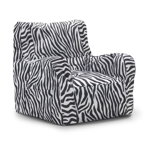 Big Joe Zebra Duo Bean Bag Chair