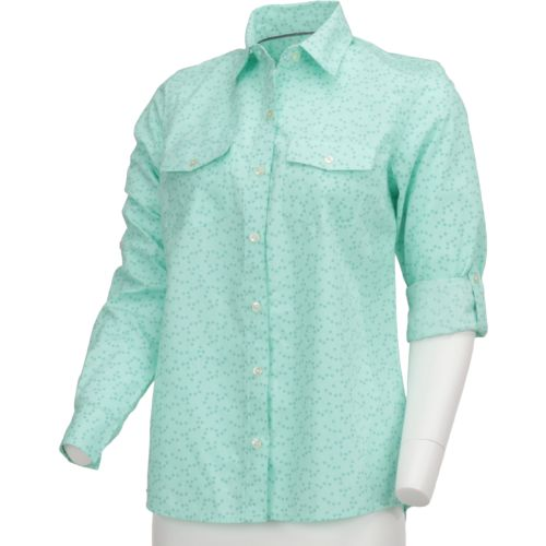 Magellan Outdoors Women's Cute Catch Long Sleeve Roll Up Printed Fishing Top