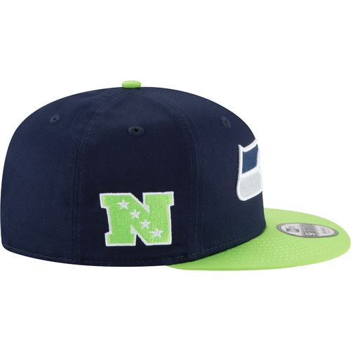 New Era Men's Seattle Seahawks 9FIFTY Baycik Snapback Cap - view number 5