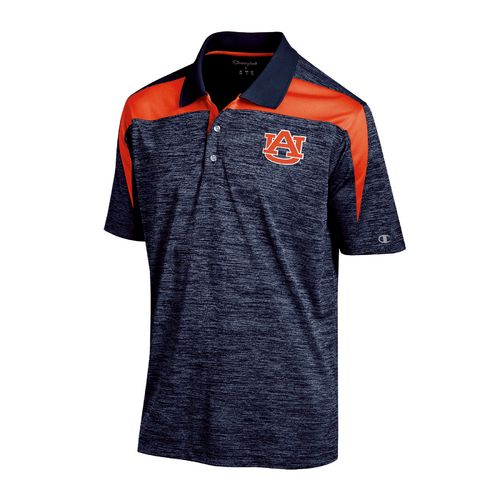 Champion™ Men's Auburn University Synthetic Colorblock Polo Shirt