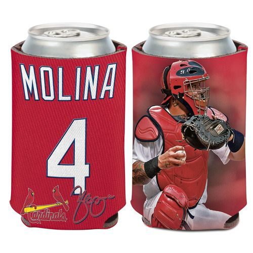 WinCraft St. Louis Cardinals Yadier Molina 4 Can Cooler - view number 1