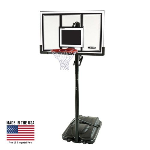 "Display product reviews for Lifetime 54"" Polycarbonate Basketball Hoop"