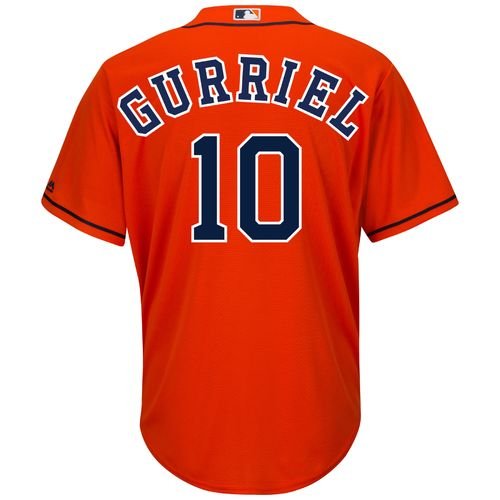 Majestic Men's Houston Astros Yulieski Gurriel #10 COOL BASE® Alternate Replica Jersey - view number 1