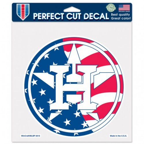 WinCraft Houston Astros Patriotic 8 in x 8 in Perfect Cut Decal