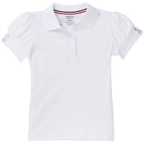 French Toast Girls' Puff Sleeve Polo Uniform Shirt