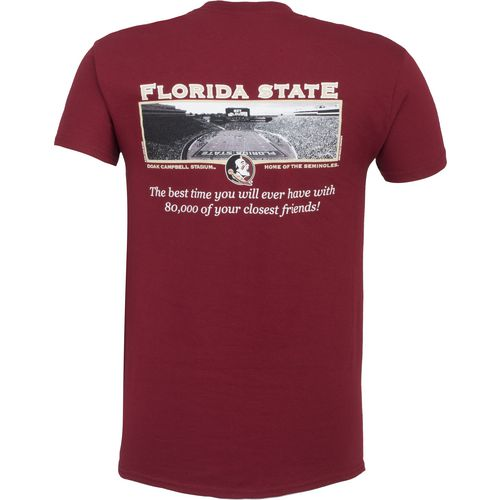 New World Graphics Men's Florida State University Friends Stadium T-shirt