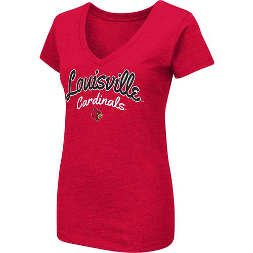 Colosseum Athletics Women's University of Louisville Team Font Arch T-shirt - view number 1