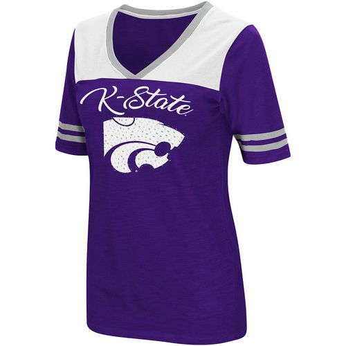 Colosseum Athletics Women's Kansas State University Twist 2.1 V-Neck T-shirt