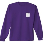 New World Graphics Women's Texas Christian University Faux Pocket Long Sleeve T-shirt - view number 2