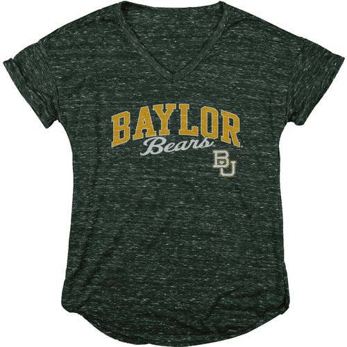Blue 84 Women's Baylor University Dark Confetti V-neck T-shirt