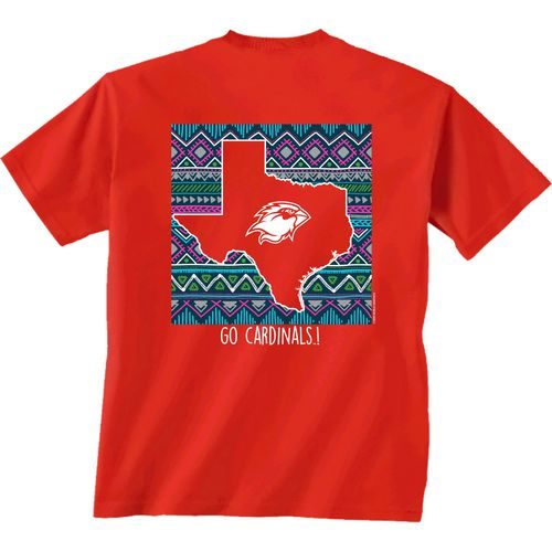 New World Graphics Women's Lamar University Terrain State T-shirt