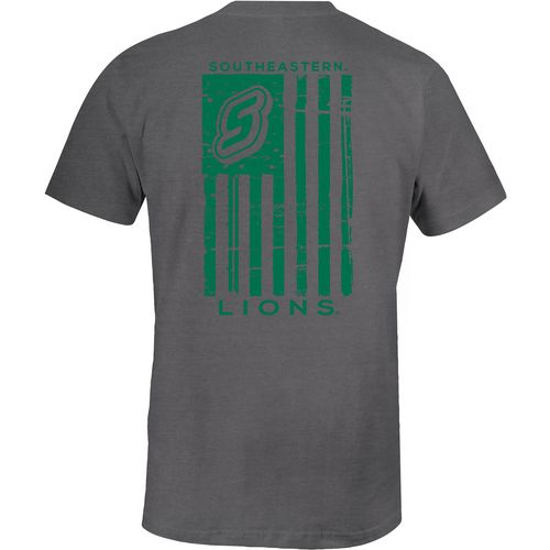Image One Men's Southeastern Louisiana University Distressed Flag T-shirt