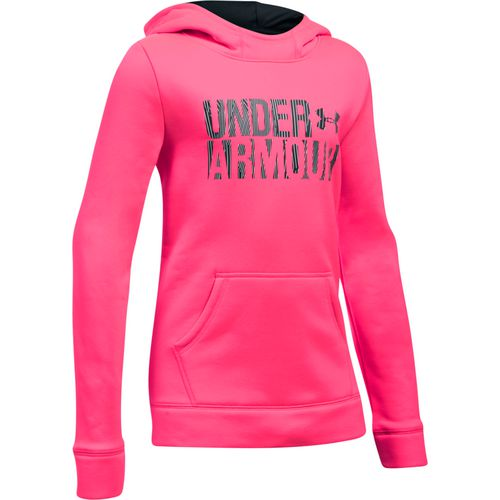 Under Armour Girls' Wordmark Armour Fleece Hoodie