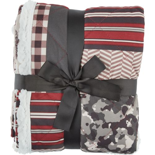 Alpine Lodge 50 in x 70 in Plaid Microflannel to Sherpa Reversible Throw