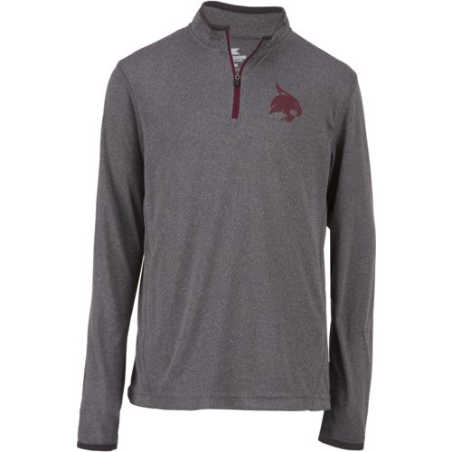 Colosseum Athletics Youth Texas State University Action Pass 1/4 Zip Wind Shirt