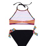 O'Rageous Girls' Fiesta Stripe 2-Piece Bikini - view number 2