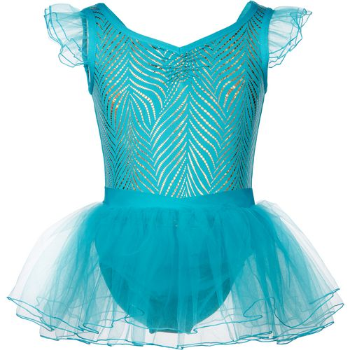 Capezio Girls' Future Star Foiled Printed Sheer Sleeve Gown