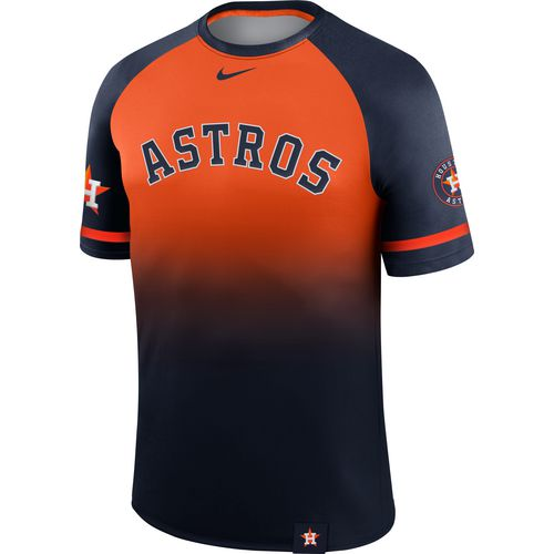 Nike Men's Houston Astros Wordmark Legend Raglan Jersey T-shirt