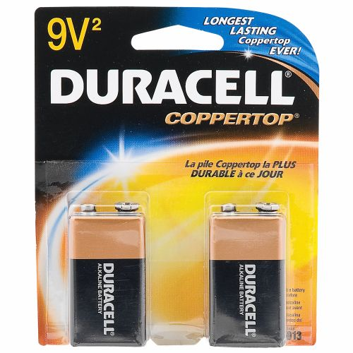 Duracell Coppertop 9V Alkaline Batteries 2-Pack