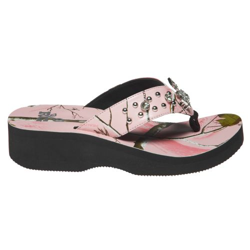 Realtree Girls® Women's Rachel Wedge Thong Sandals