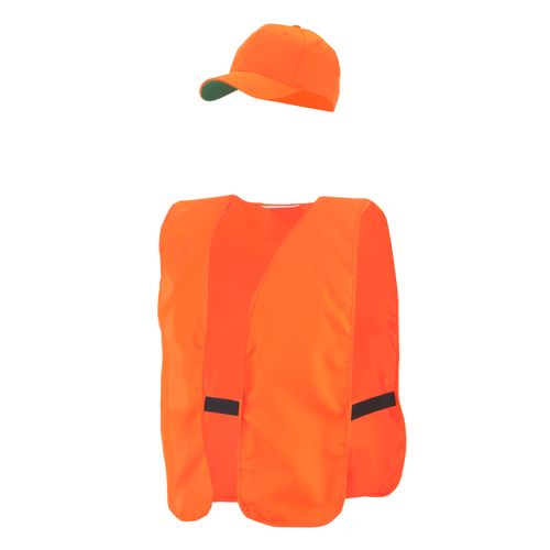 Allen Company Adult s Blaze Orange Hat & Vest Combo