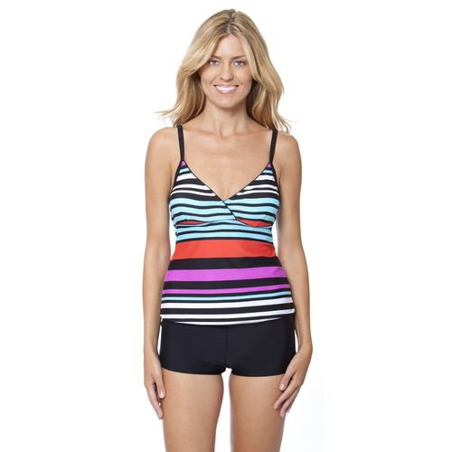 Image for Aqua Couture Women's Bold and Beautiful Surplice Tankini Top from Academy