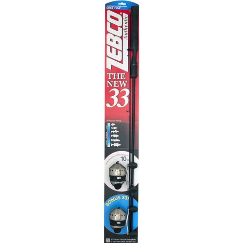 "Display product reviews for Zebco Authentic 33 5'6"" M Freshwater Spincast Rod and Reel Combo with Bonus 33"