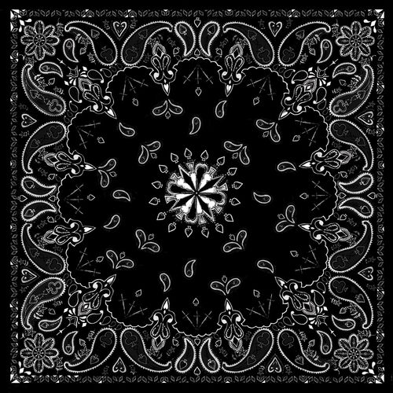 ZANHeadgear® Black Paisley Premium Bandanna