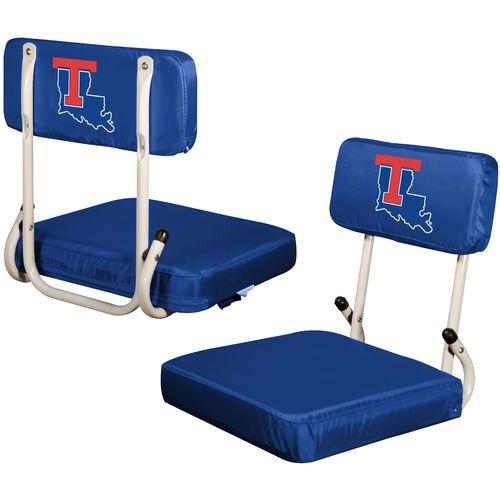 Logo Chair Louisiana Tech Hard Back Stadium Seat