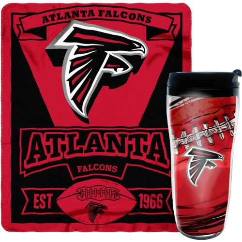 NFL Atlanta Falcons Mug and Snug Fleece Throw and Travel Tumbler Gift Set