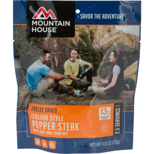 Display product reviews for Mountain House® Freeze-Dried Italian-Style Pepper Steak with Rice and Tomatoes Pouch