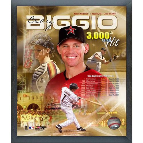 "Photo File Houston Astros Craig Biggio 3000th Hit/Portrait Plus 11"" x 14"" Photo"