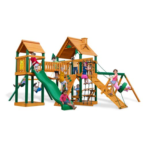 Gorilla Playsets™ Pioneer Peak Swing Set with Timber Shield™