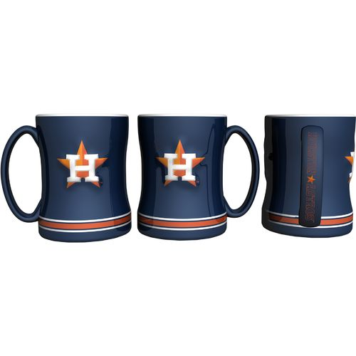 Boelter Brands Houston Astros 14 oz. Relief Style Coffee Mug - view number 2